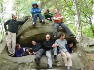 Group photo at Canche au Merciers